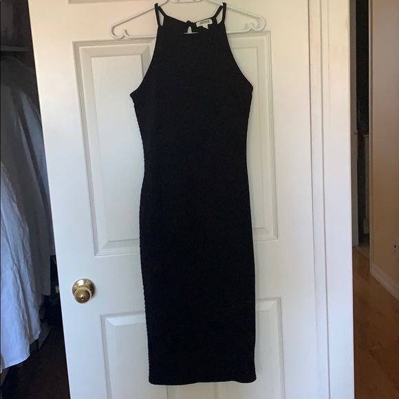 High Neck Long Fitted Dress